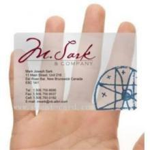 China transparent business card on sale