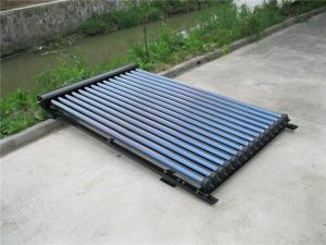 China 20 tubes solar keymark approved 14mm condensor black heat pipe solar collectors on sale
