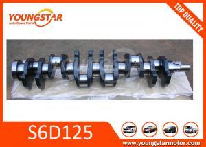 China Forged Steel vehicle crankshaft For KOMATSU S6D125  6151-31-1110 on sale
