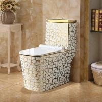 China Hotel luxury ceramic high quality one piece golden modern toilet wc on sale