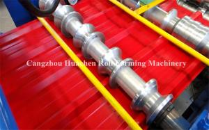 China Iron Sheet Roll Forming Line , Corrugated Double Liner Metal Roof Tile Making Machine on sale
