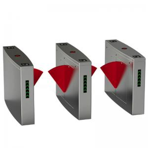China High Sensitivity Access Control Barriers And Gates System With Wing Turnstile Flag on sale