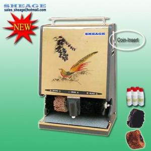 China Automatic Shoe Polishing Machine, Coin Shoe Polisher, Shoe Cleaner, Coin Dispenser, SHE-G205 on sale