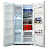 R600A Automatic Defrost 200L Double Door Refrigerator for Commercial Use
