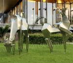 Deer Animal Shape Modern Outdoor Sculpture As Lawn Decor / Garden Decor