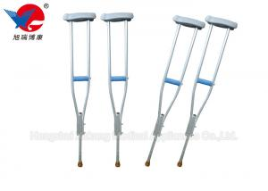China Anti Slip Medical Walking Crutches , Aluminum Alloy Adjustable Walking Cane on sale