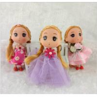 Eco - Friendly Bobby Doll Toys for Girls , Plastic Cartoon Dolls with Lace