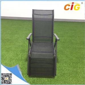 China Aluminum lightweight folding sling chaise lounger /  comfortable recliner chair popular sun bed on sale