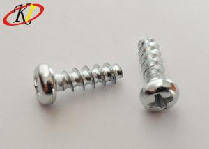 China White Zinc Cross Recessed Pan Head PT Thread Screws for Thermoplastic on sale