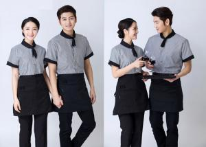 Embroidered Unique Restaurant Uniforms With Single Row