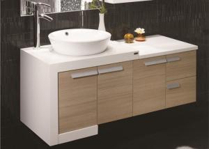China Custom Bathroom Vanities For Small Bathrooms , Yellow Free Standing Bathroom Vanity Units on sale