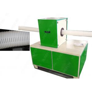 China Corrugated Pipe Notching Plastic Processing Machinery Full Automatic CE Certification on sale
