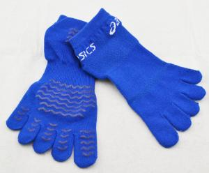 China OEM Eco-Friendly Five Toe Sock, Blue Yoga Non-slip Socks, Knitted Socks  For Boys on sale