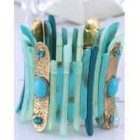 European and American fashion retro personality multicolor resin diamond bangle bracelet