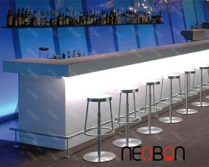 China White artificial stone bar counter/l shape bar counter on sale