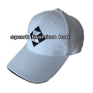 Quality Plain embroidered 6 panel promo baseball hat with sandwich peak for sale