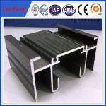 China Aluminium sigma profile, black anodizing aluminum extrusion for sales wholesale