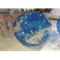 Blue 1.5mm PVC Adult Hamster Ball , Bubble Ball Human Zorb Ball 1.5m