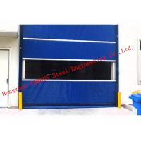 China Finished Surface PVC Automatic Industrial Garage Doors Roller Shutter With Visual Window on sale
