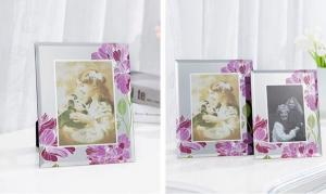 China Durable Solid Glass Wedding Photo Frames / Elegant Family Wall Art Picture Frames on sale