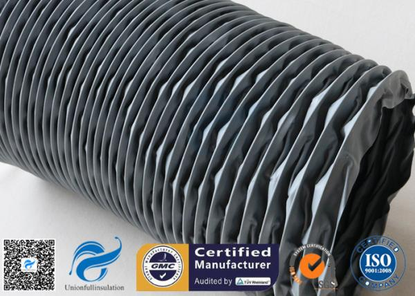 Flexible Air Duct PVC Coated Fiberglass Fabric Grey 200MM