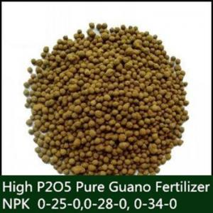 China Organic Seabird Guano Fertilizer 2 - 4 mm Pellets , High Phosphorus on sale