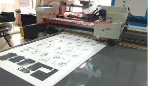 China Rigid Foamed PVC Forex Expansion PVC Flatbed Digital Sample Cutter Plotter on sale