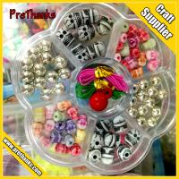 Hot DIY Bracelet Acrylic loom bands Bead set Accessories Girl Toys Mixed Kids Beads with Box