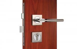 Quality Satin Nickel Chrome Front Door Mortise Lock 35-70mm Door Thickness for sale