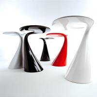 Black / Red / White Fiberglass Table For Commercial Area And Coffee Shop