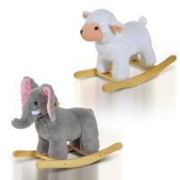 Baby Kids Plush Toy Rocking Horse Elephant Sheep Style Ride on Rocker/ Songs