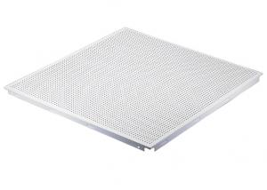 China Metallic Finishes Acoustic Ceiling Tiles with Accoustical Rockwool Backing on sale