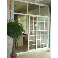1.4mm profile thickness white, balck gray aluminum sliding glass doors with fly screen