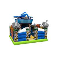 Spaceship Themed Inflatable Jump House / Airplane Bouncer With Slide For Children