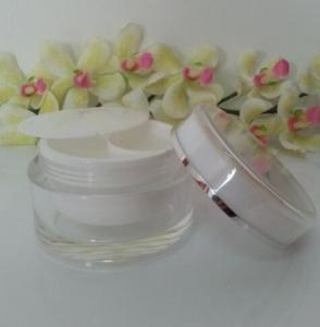 Quality 50 mls cognent, double pot cosmétique, la crème de visage jar.2x25ml for sale