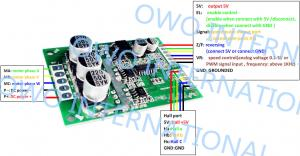 Overload Protection Brushless DC Motor Driver Board Pure