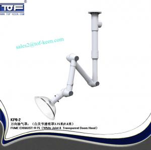 China chemical plant fume extraction arm, PP, ventilation system flexible fume hood on sale
