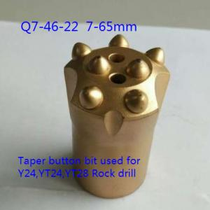 China Taper Drill Apered Rod Button Knock off Impact Resistant Bits with 7 buttons on sale