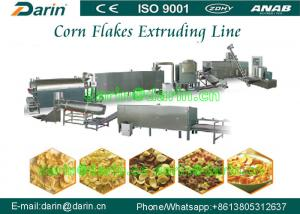 China Stainless steel Corn Flakes Processing Line Twin Screw Extruder Machine on sale