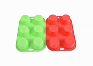 China Food Grade Silicone Baking Molds 6 Hole Round DIY Cake Baking Mould FDA Certified on sale