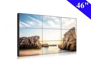 China 46 inch video wall full hd full color 500nits 3x3 lcd display narrow bezel 10mm on sale