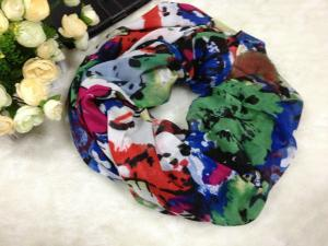 China Mixed Color Women Cotton / Voile Scarves Neck Warmers Of Winter on sale