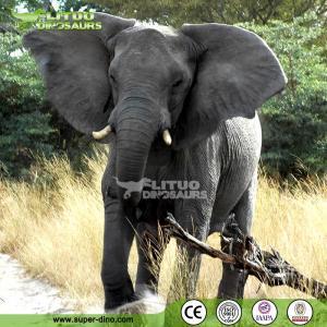 China Wild Animal Education Life Size Animatronic Animal Elephant for Sale on sale