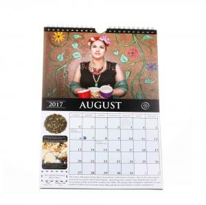 China Unique Fashion Giant Monthly Wall Calendar Coated Paper With Hanger on sale
