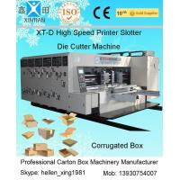 Corrugated Box Making Flexo Printer Slotter Machine With Die Cutter 1400 x 2600mm
