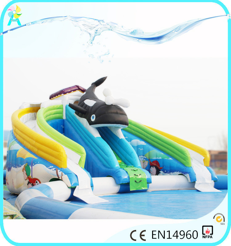 water inflatables large inflatable slide with blower for