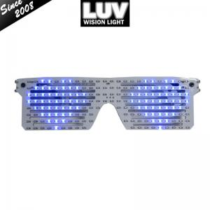 China Factory Custom logo halloween light up flashing LED neon el wire glasses for party on sale