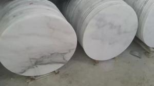 China Guangxi White Marble Round Table Tops,China Carrara White Marble Counter Tops,China White Marble Table,White Marble Top on sale