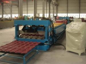 China Full Automatic Corrugated Metal Glazed Roof Tile Roll Forming Machine Production Line Forming Speed 8 - 10 m/min on sale