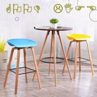 China Modern Plastic Bar Stools / Chairs Non Slip Multiple Colors Optional on sale